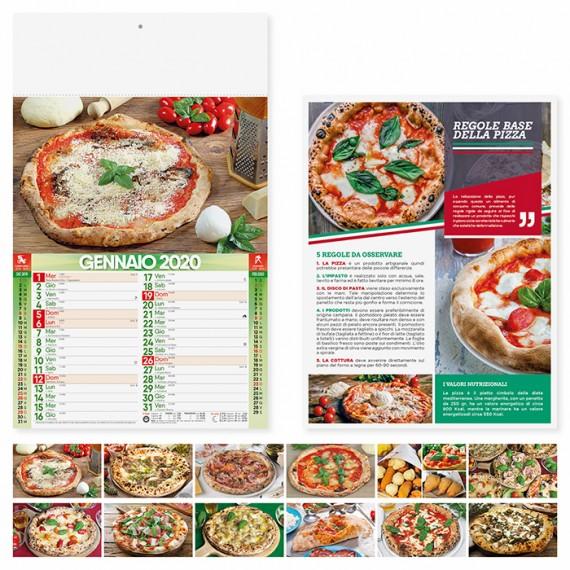 """Calendario 29 x 47 cm Illustrato """" PIZZA"""" personalizzato con il tuo logo - PA136"""
