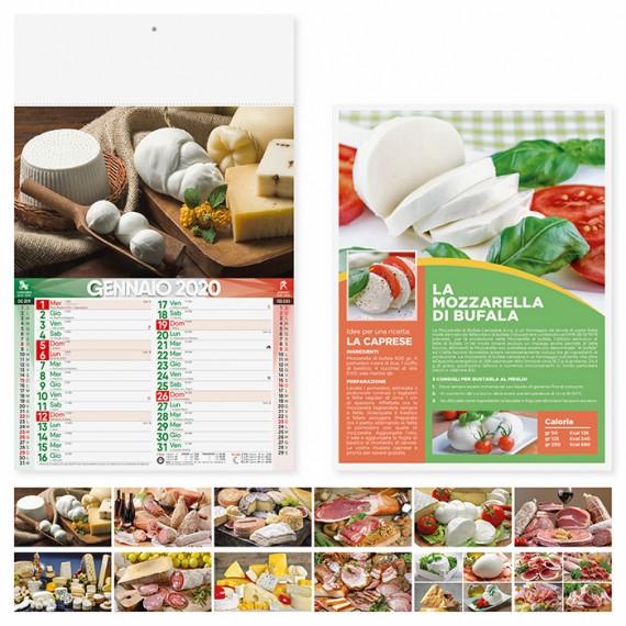 """Calendario 29 x 47 cm Illustrato """"PRODOTTI TIPICI"""" personalizzato con il tuo logo - PA140"""