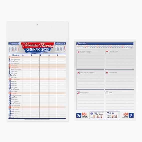 Calendario 29 x 47 cm Olandese MEMO personalizzatocon il tuo logo - PA648