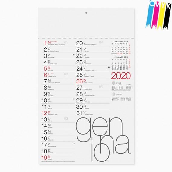 Calendario 29 x 47 cm Olandese Moderno personalizzato con il tuo logo - PA615