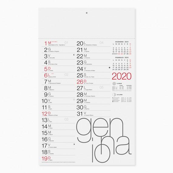 Calendario 29 x 47 cm Olandese Moderno personalizzatocon il tuo logo - PA615