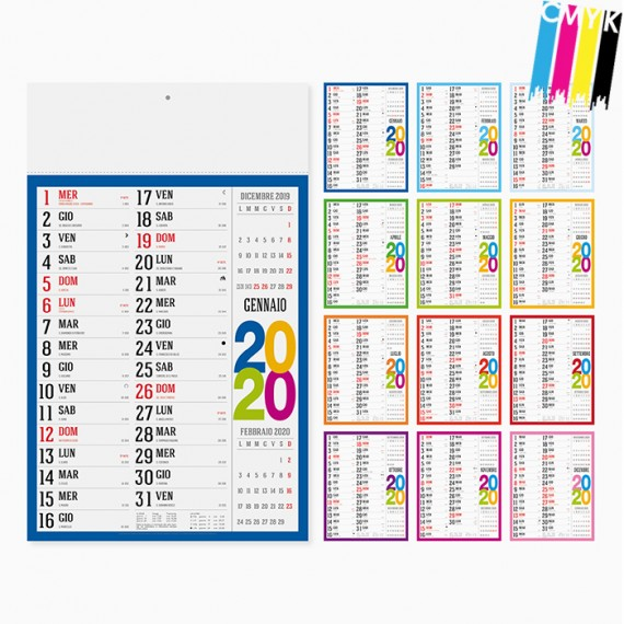 Calendario 29 x 47 cm Olandese Swedish personalizzato con il tuo logo - PA614