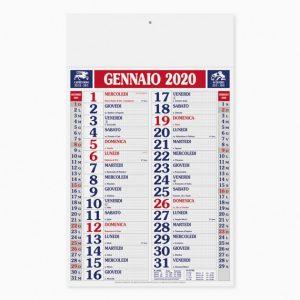 Calendario 29 x 47 cm Quadrettato Antico personalizzatocon il tuo logo - PA610