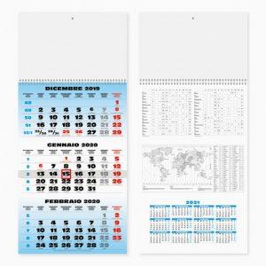Calendario Trittico 31 x 69 cm SPIRAL personalizzatocon il tuo logo - PA508