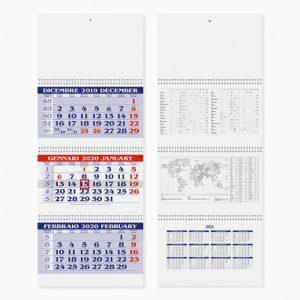 Calendario Trittico 31 x 80 cm SPIRAL PLUS personalizzatocon il tuo logo - PA510