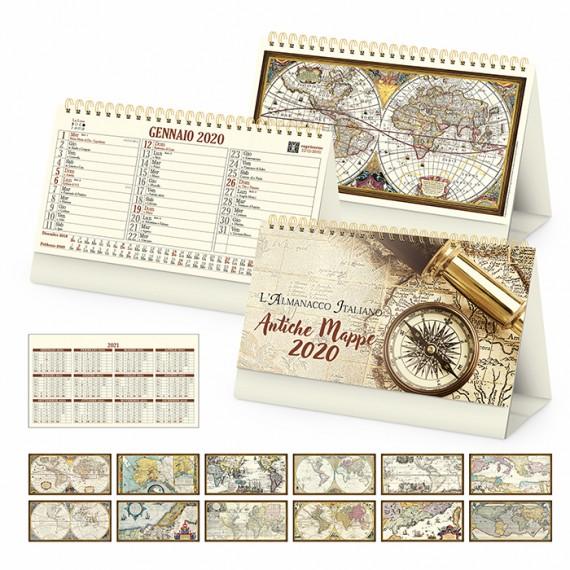 "Calendario Vintage ""ANTICHE MAPPE"" 19 x 14"