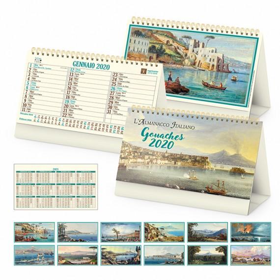 """Calendario Vintage """"GOUACHES"""" 19 x 14"""