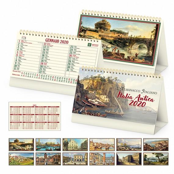 """Calendario Vintage """"ITALIA ANTICA"""" 19 x 14"""