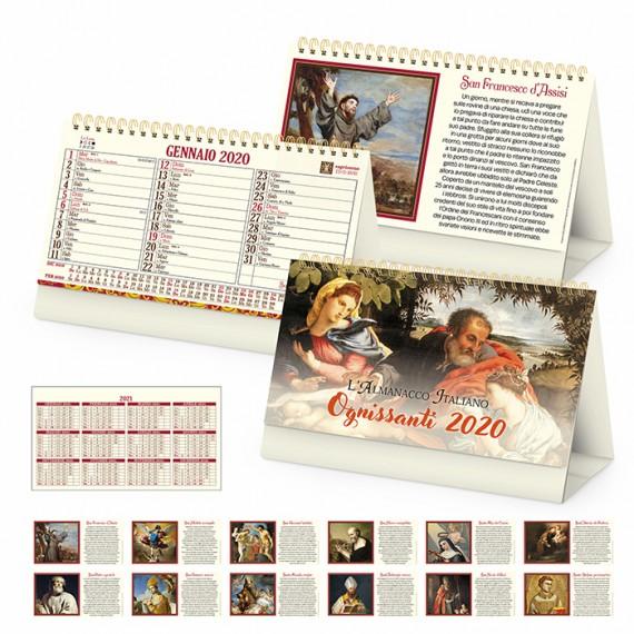 """Calendario Vintage """"OGNISSANTI"""" 19 x 14"""