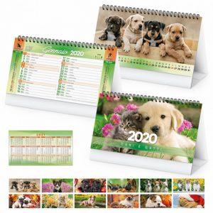"""Calendario da Tavolo """"CANI E GATTI"""" personalizzatocon il tuo logo - PA403"""