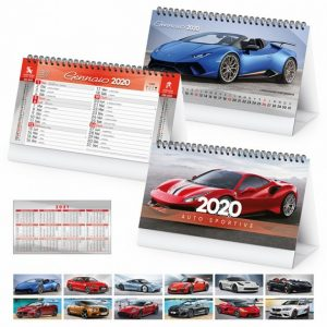 """Calendario da Tavolo """"AUTO SPORTIVE"""" personalizzatocon il tuo logo - PA406"""