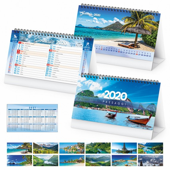 """Calendario da Tavolo """"PAESAGGI"""" personalizzatocon il tuo logo - PA402"""