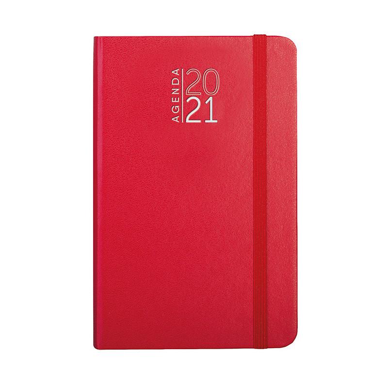 PB546 - 192 pag. : 128 pag. (agenda settimanale) F.to cm 9x14 ca (chiuso) Rosso PB546RO