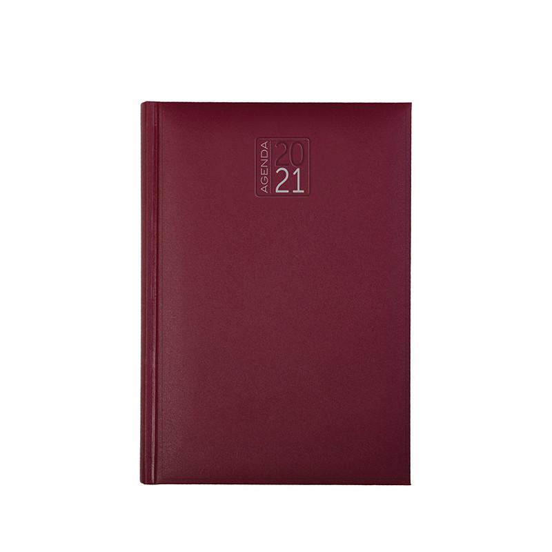 PB512 - Agenda giornaliera 324 pagine s/d/a F.to cm 17x24 ca (chiuso) Bordeaux PB512BO