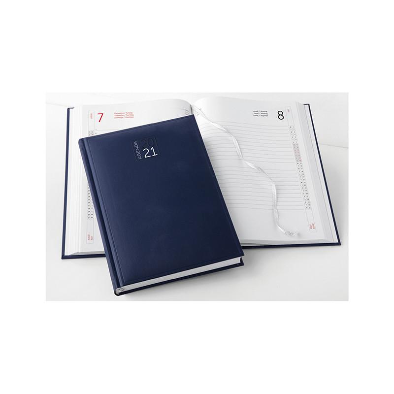 PB532 - Agenda giornaliera 404 pagine s/d/s F.to cm 15x21 ca (chiuso) Blu PB532BL