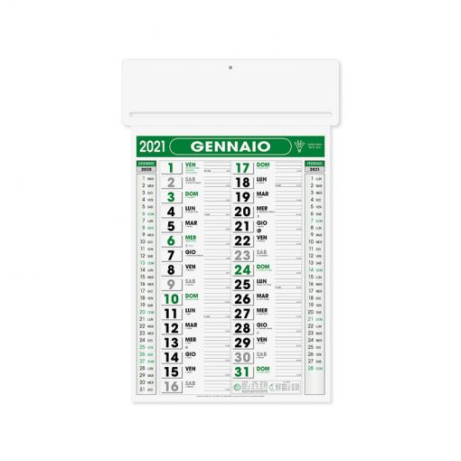 PA550 - Olandese mensile 12 fogli Verde PA550VE