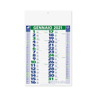 PA620 - Olandese mensile 12 fogli Verde PA620VE