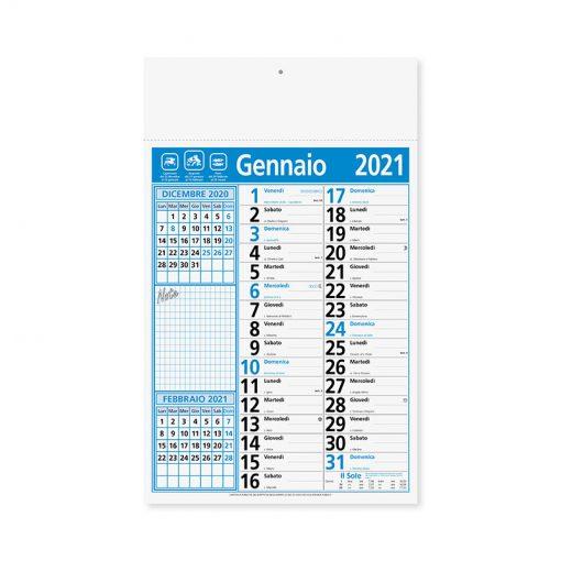 PA635 - Olandese mensile 12 fogli Blu PA635BL