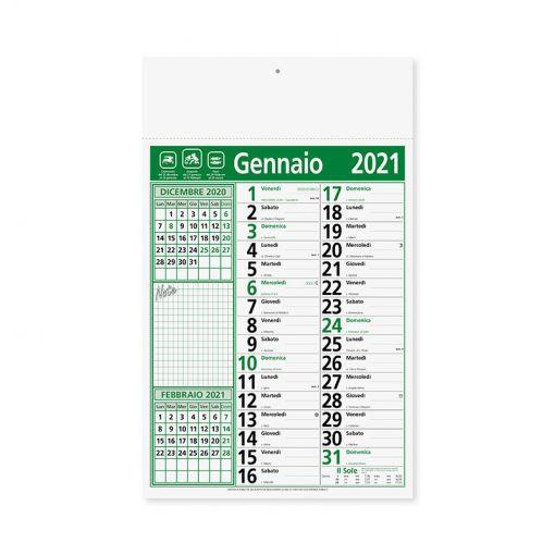 PA635 - Olandese mensile 12 fogli Verde PA635VE