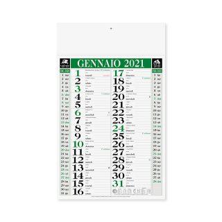 PA640 - Olandese mensile 12 fogli Verde PA640VE