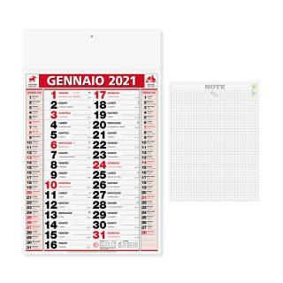 PA646 - Olandese mensile 12 fogli Rosso PA646RO