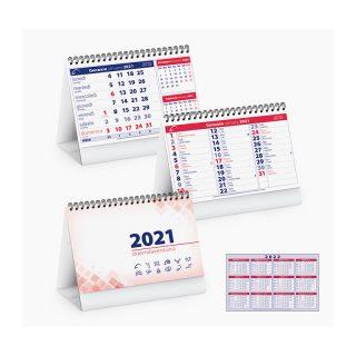 PA700 - Calendarietto spiralato da tavolo Rosso PA700RO