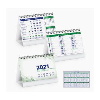 PA700 - Calendarietto spiralato da tavolo Verde PA700VE