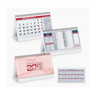 PA710 - Calendarietto spiralato da tavolo Rosso PA710RO