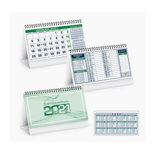 PA710 - Calendarietto spiralato da tavolo Verde PA710VE