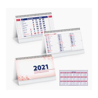 PA715 - Calendarietto spiralato da tavolo Rosso PA715RO