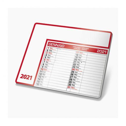 PA782 - Tappetino mouse calendario Rosso PA782RO