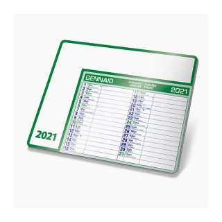 PA782 - Tappetino mouse calendario Verde PA782VE