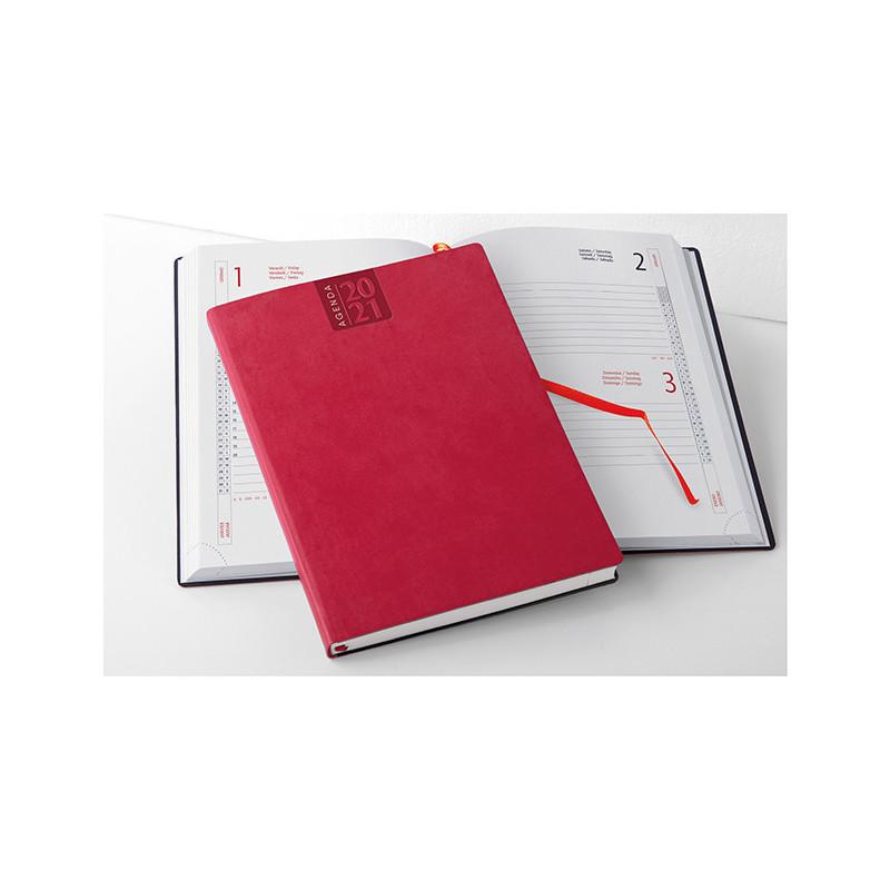 PB330 - Agenda giornaliera 324 pag. S/d/a F.to cm 15x21 ca (chiuso) Rosso PB330RO