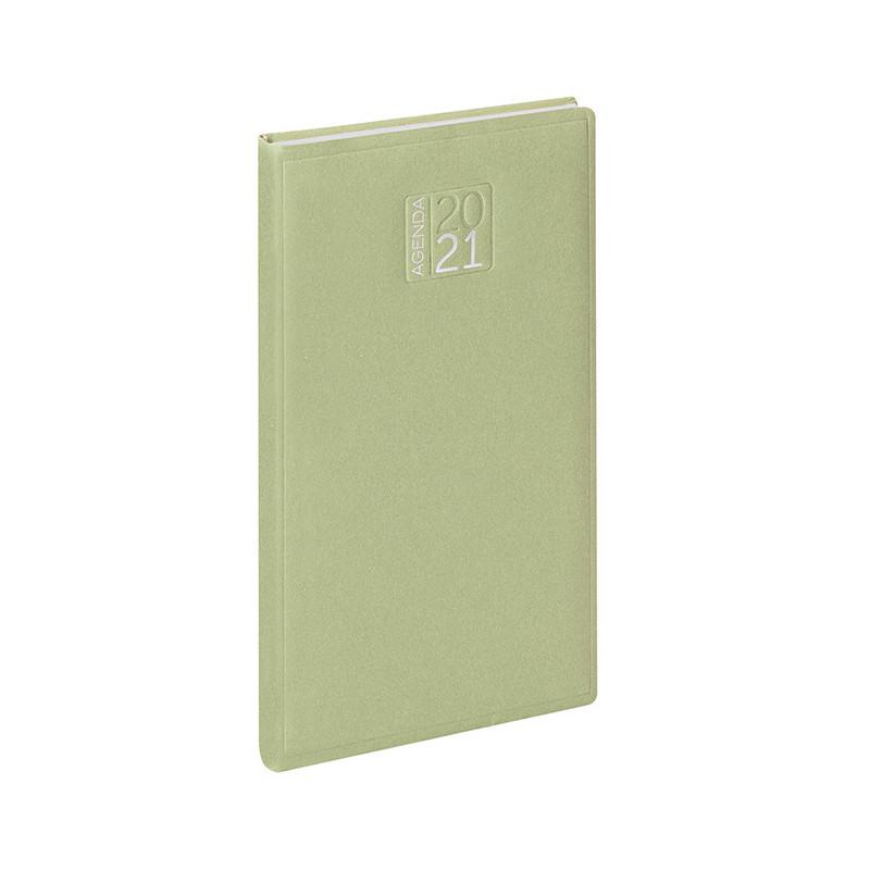 PB356 - Agenda settimanale 132 pagine F.to cm 8x15 ca (chiuso) Verde PB356VE