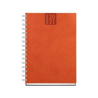 PB380 - Agenda settimanale 128 pag F.to cm 17x24 ca (chiuso) Arancio PB380AR