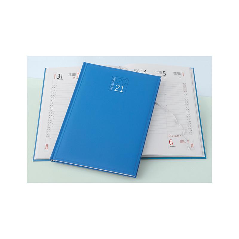 PB540 - Agenda settimanale 132 pagine F.to cm 17x24 ca (chiuso) Azzurro PB540AZ