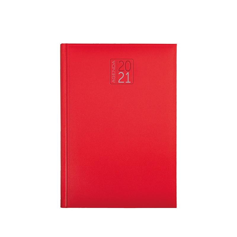 PB540 - Agenda settimanale 132 pagine F.to cm 17x24 ca (chiuso) Rosso PB540RO