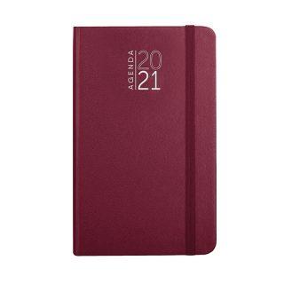 PB544 - 352 pag. (333 pag. agenda sab. e dom. abbinati) F.to cm 9x15 ca (chiuso) Bordeaux PB544BO