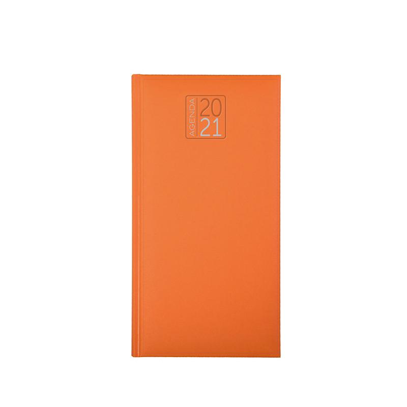 PB550 - Agenda settimanale 132 pagine F.to cm 8x15 ca (chiuso) Arancio PB550AR
