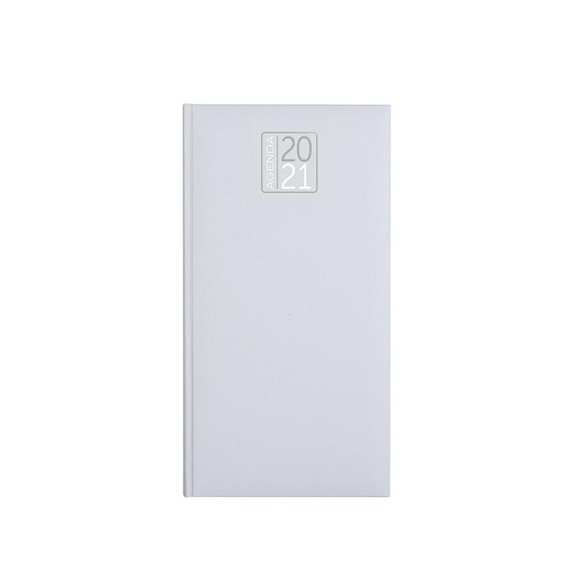 PB550 - Agenda settimanale 132 pagine F.to cm 8x15 ca (chiuso) Bianco PB550BI