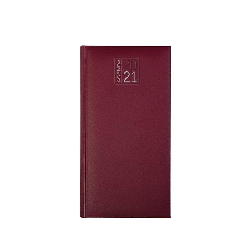 PB550 - Agenda settimanale 132 pagine F.to cm 8x15 ca (chiuso) Bordeaux PB550BO