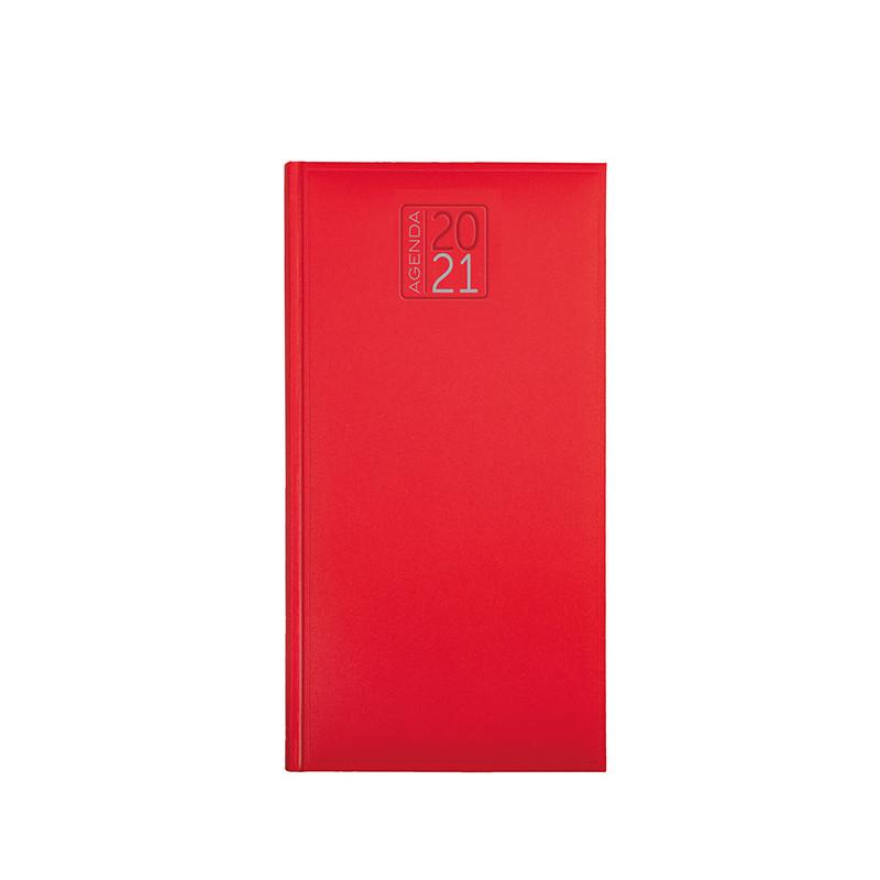PB550 - Agenda settimanale 132 pagine F.to cm 8x15 ca (chiuso) Rosso PB550RO