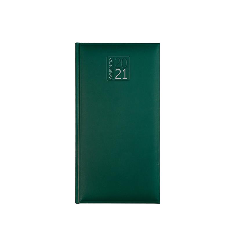 PB550 - Agenda settimanale 132 pagine F.to cm 8x15 ca (chiuso) Verde PB550VE