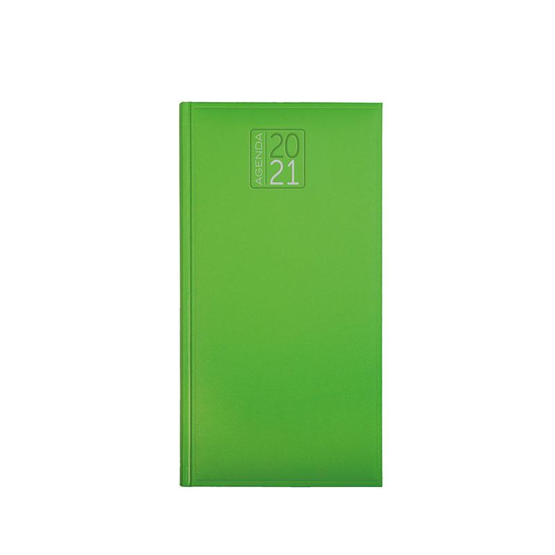 PB550 - Agenda settimanale 132 pagine F.to cm 8x15 ca (chiuso) Verde Lime PB550VL
