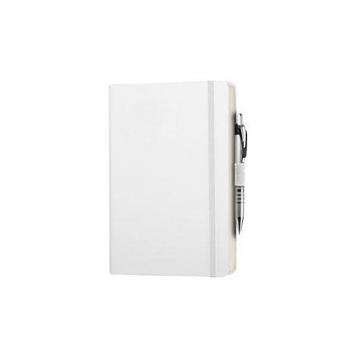 PB600 - 240 pagine a righe carta avorio F.to cm 13xh21 ca (chiuso) Bianco PB600BI