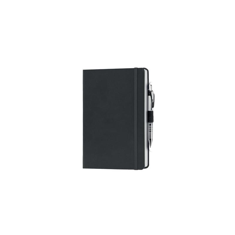 PB600 - 240 pagine a righe carta avorio F.to cm 13xh21 ca (chiuso) Nero PB600NE