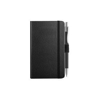 PB607 - 160 pagine a righe F.to cm 9xh14 ca (chiuso) Nero PB607NE