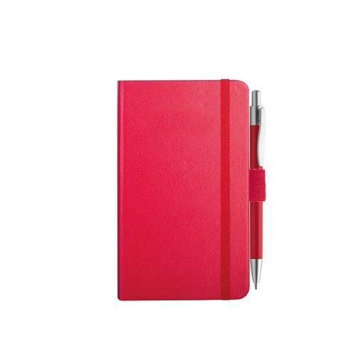 PB607 - 160 pagine a righe F.to cm 9xh14 ca (chiuso) Rosso PB607RO