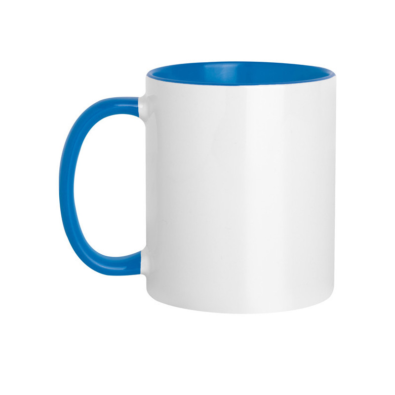 PC467 - Tazza in ceramica con interno e manico colorati Blu Royal PC467RY