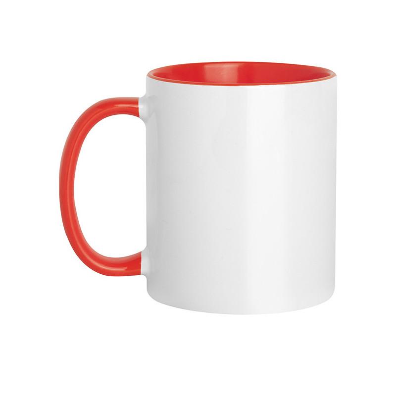 PC467 - Tazza in ceramica con interno e manico colorati Rosso PC467RO